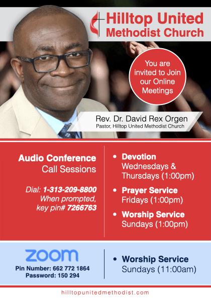 Hilltop UMC Online Meetings